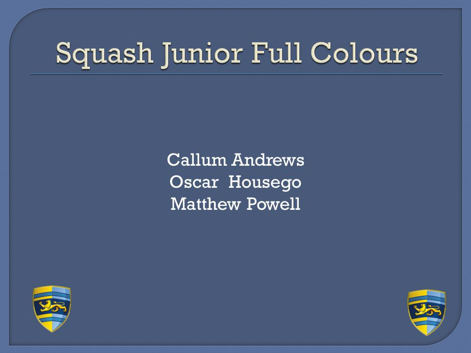 Squash Junior Full Colours