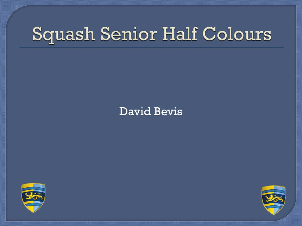 Squash Senior Half Colours