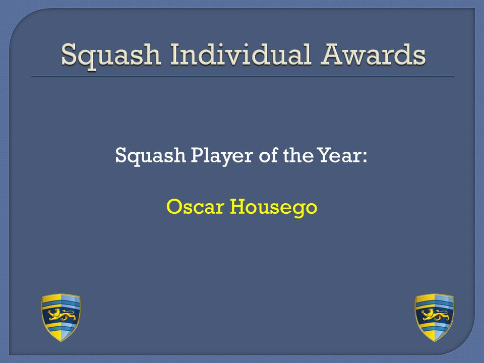 Squash Individual Awards