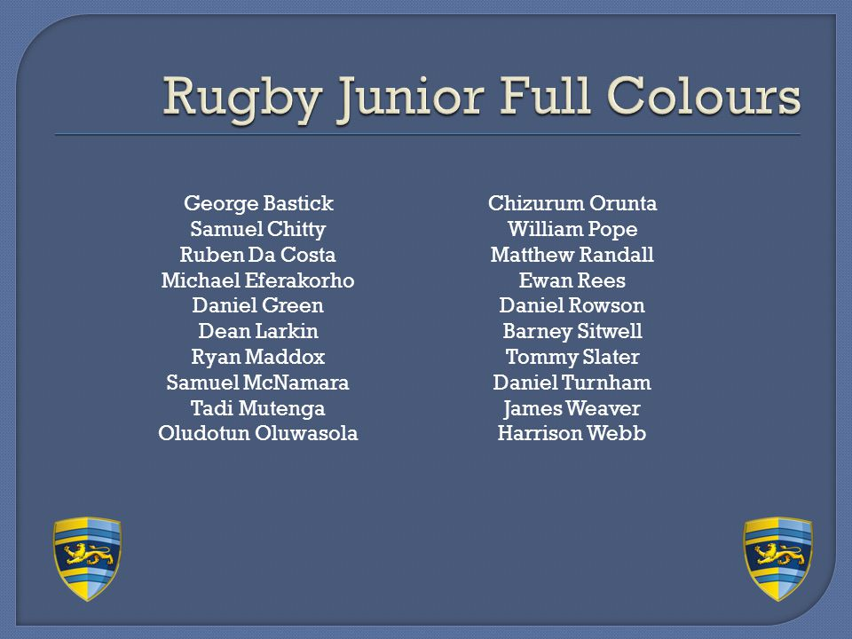 Rugby Junior Full Colours