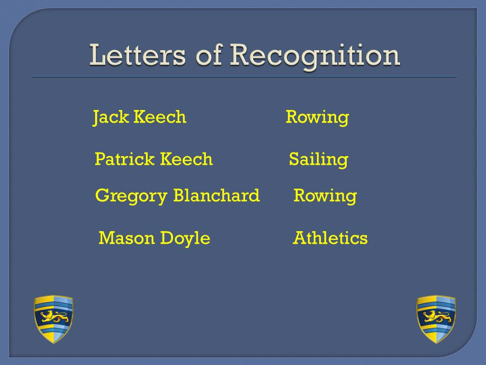 Letters of Recognition