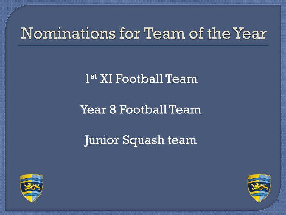 Nominations for Team of the Year