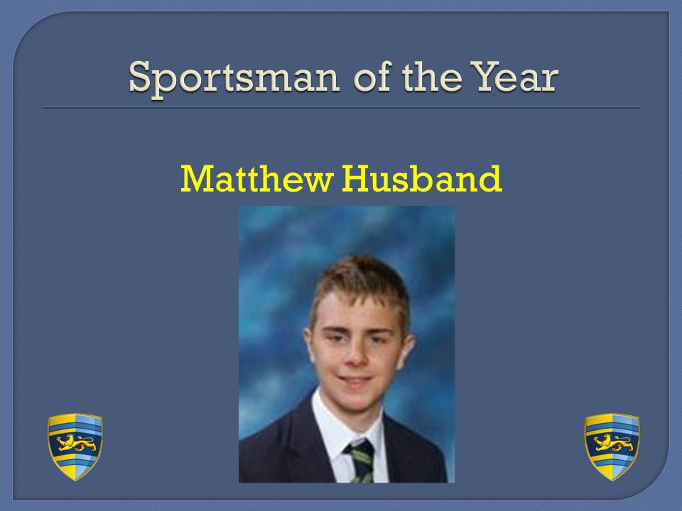 Sportsman of the Year Matthew Husband