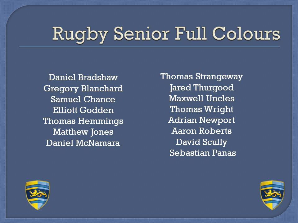 Rugby Senior Full Colours