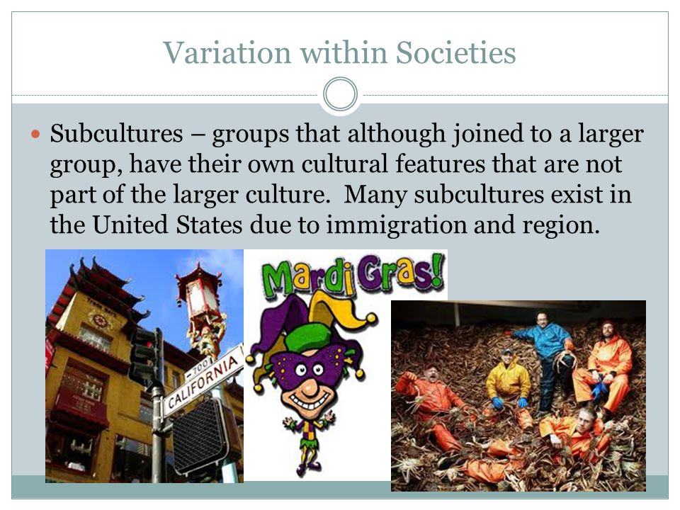Variation within Societies