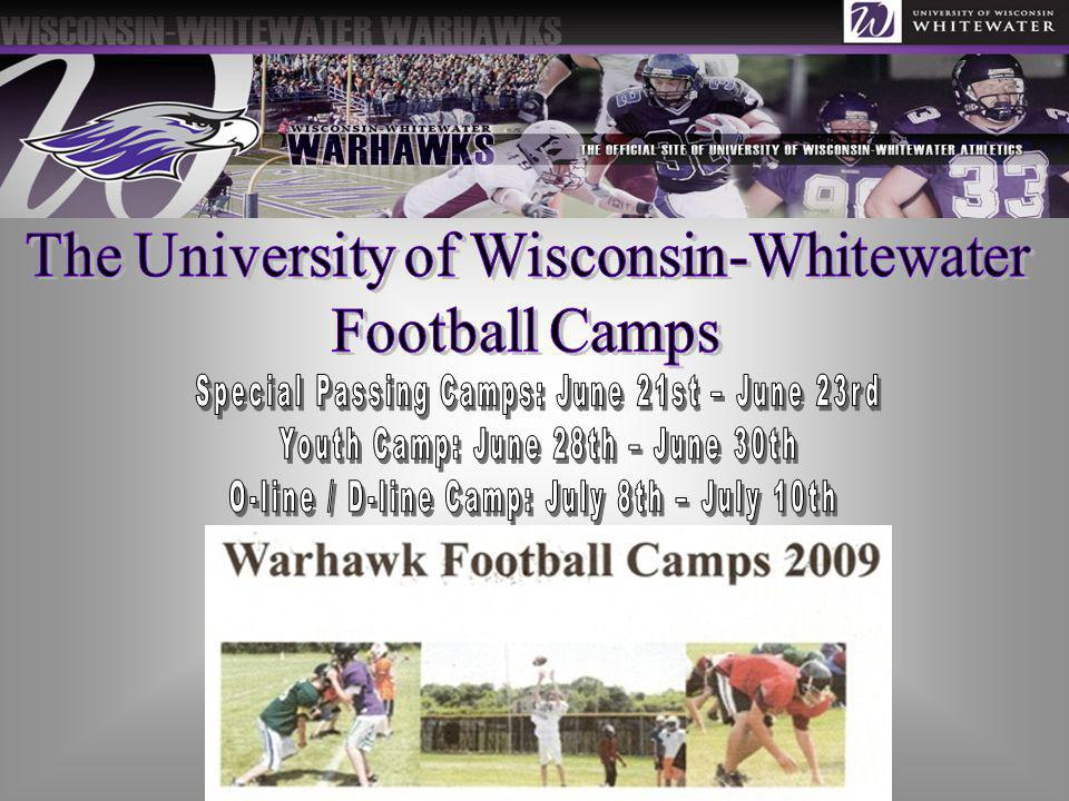 The University of Wisconsin-Whitewater Football Camps