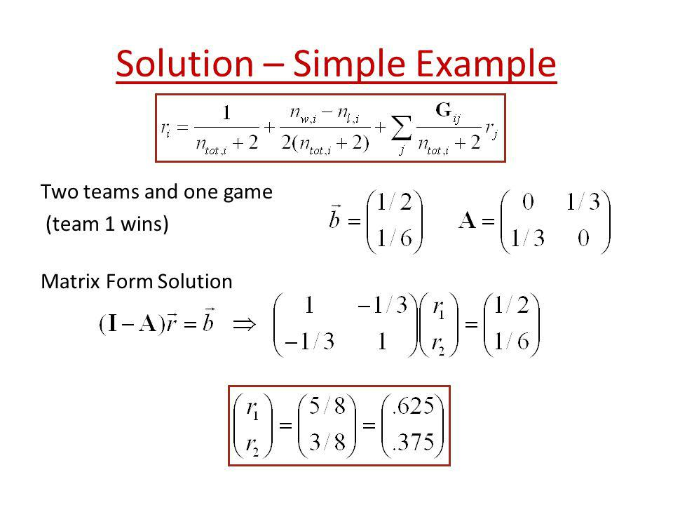 Solution – Simple Example