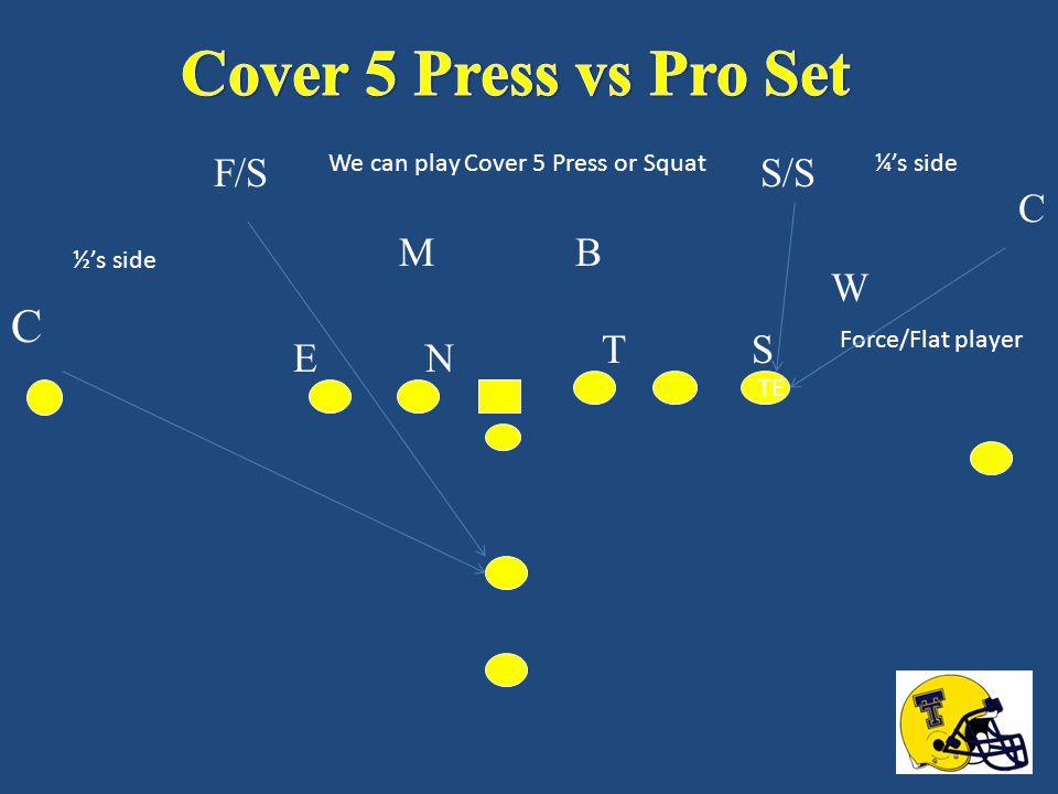 Cover 5 Press vs Pro Set C F/S S/S C M B W T S E N