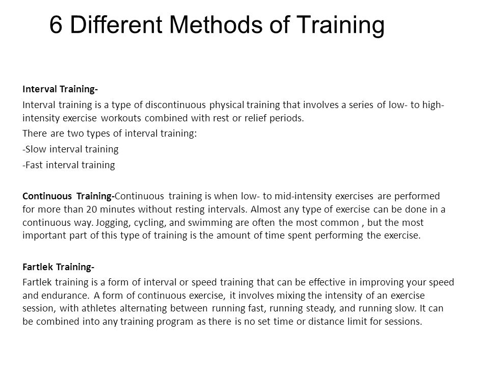 6 Different Methods of Training