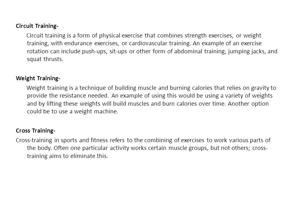 Circuit Training-