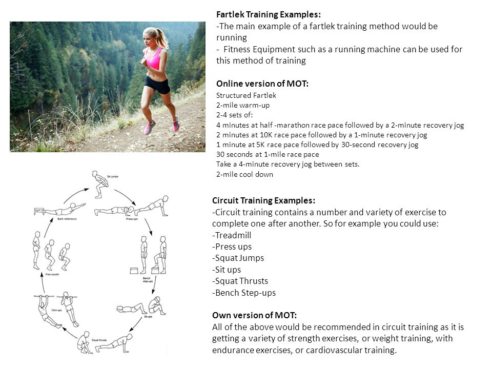 Fartlek Training Examples: