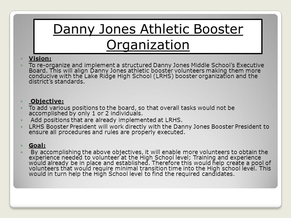 Danny Jones Athletic Booster Organization