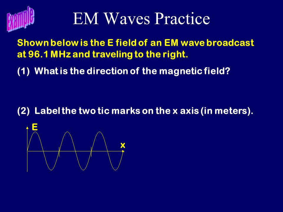 EM Waves Practice Example