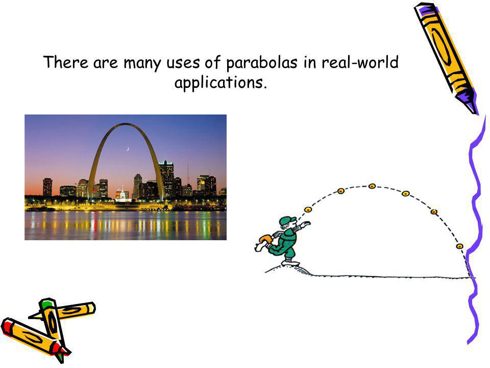 There are many uses of parabolas in real-world applications.