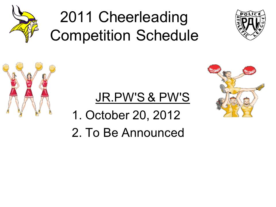 2011 Cheerleading Competition Schedule