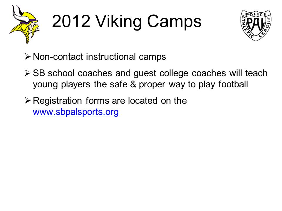 2012 Viking Camps Non-contact instructional camps
