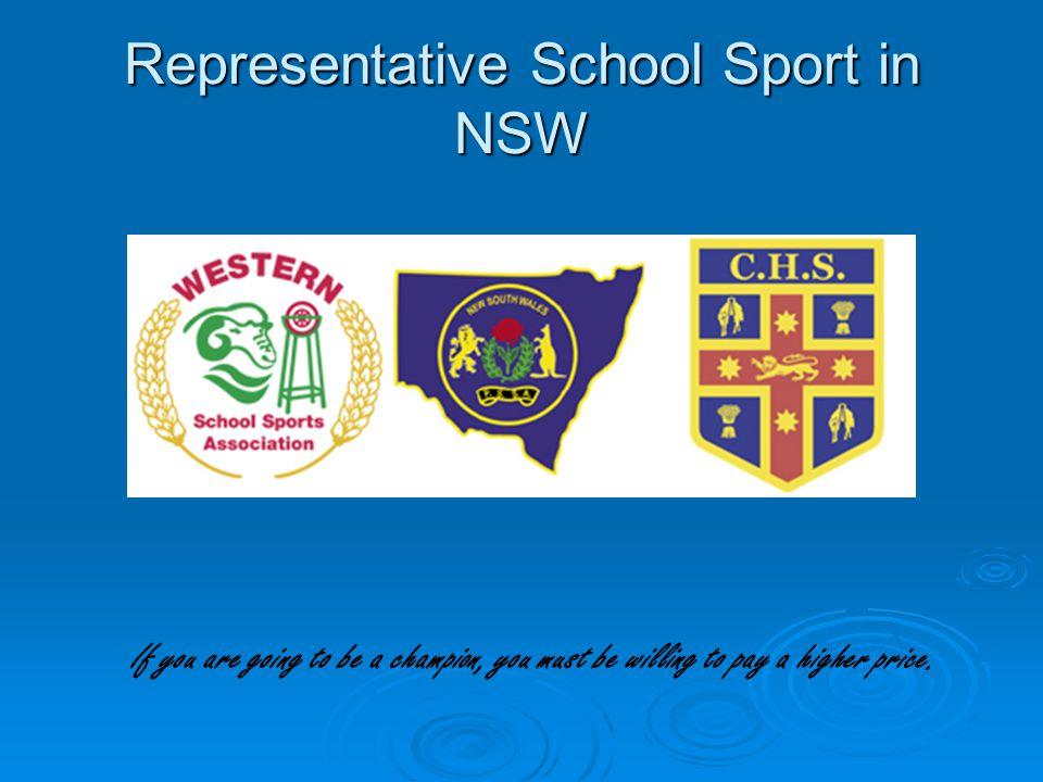 Representative School Sport in NSW
