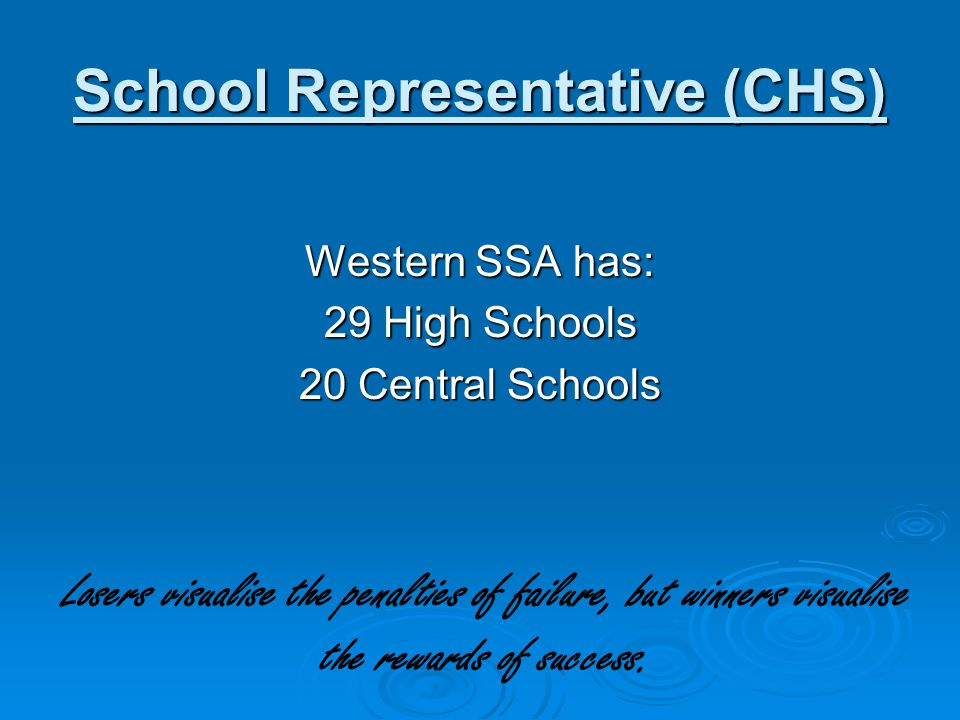School Representative (CHS)