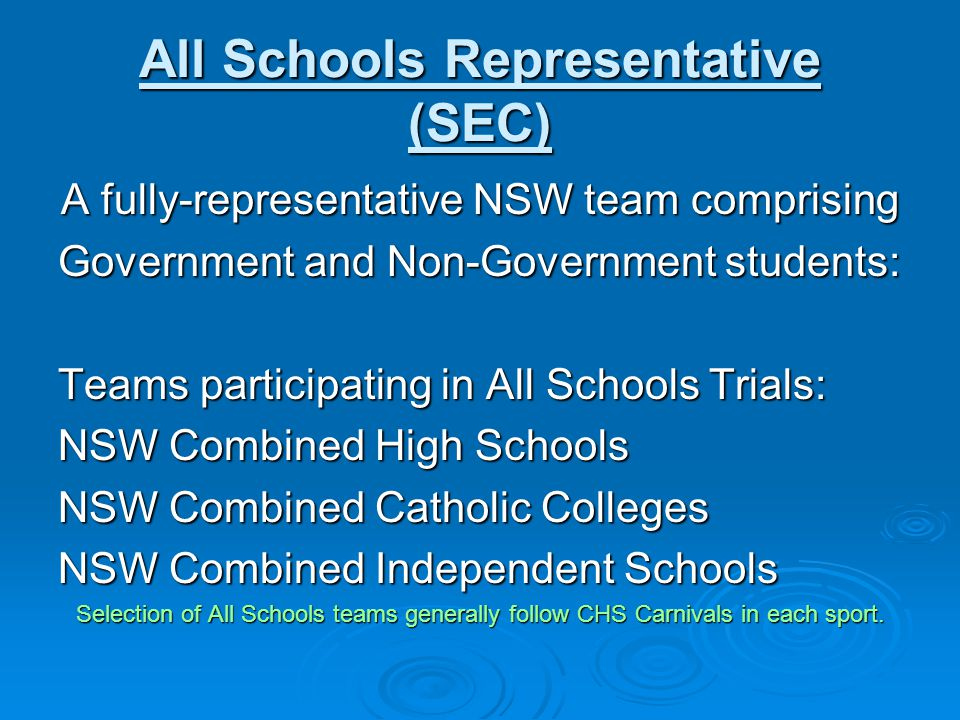 All Schools Representative (SEC)