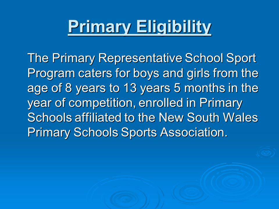 Primary Eligibility