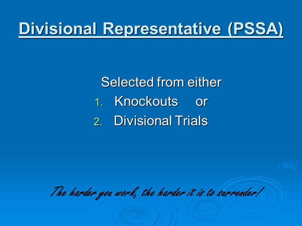 Divisional Representative (PSSA)