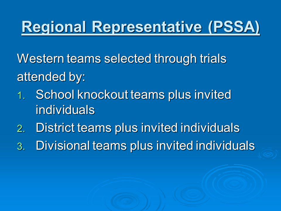 Regional Representative (PSSA)