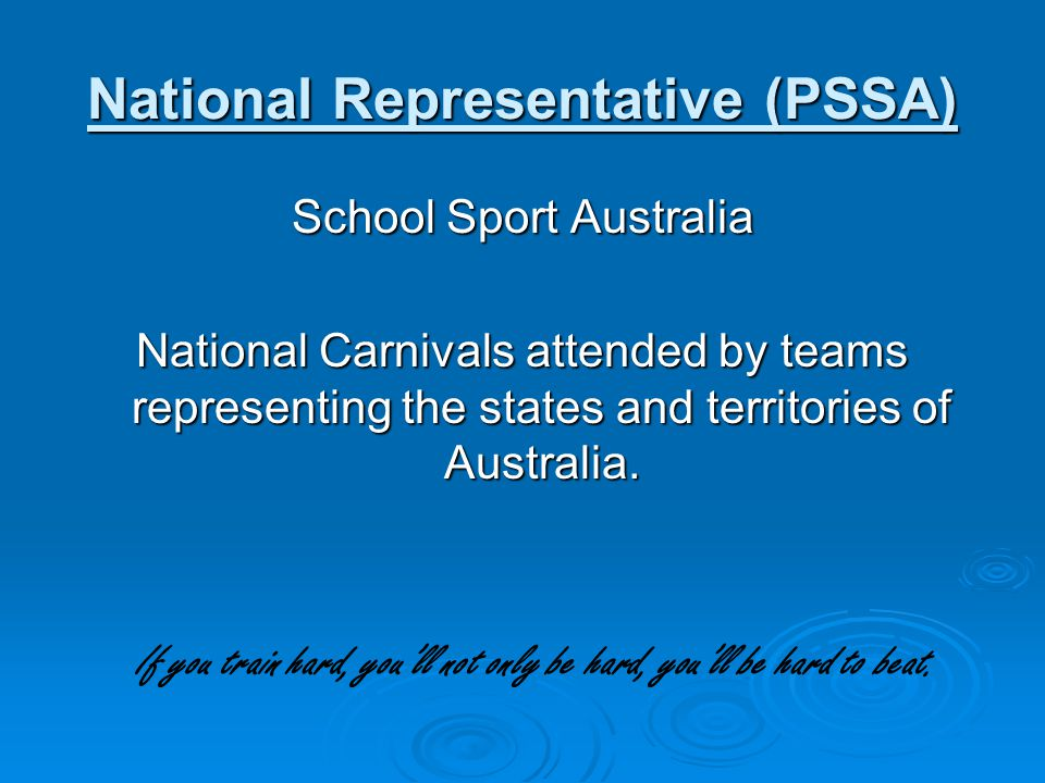 National Representative (PSSA)