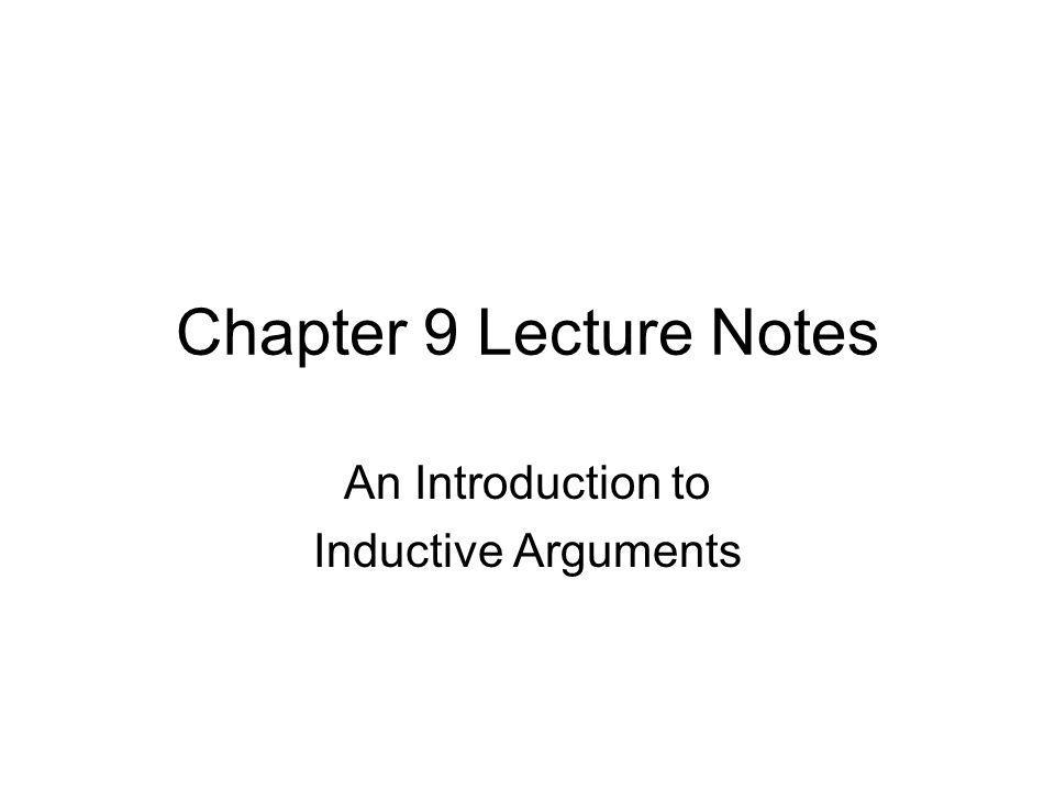 An Introduction to Inductive Arguments