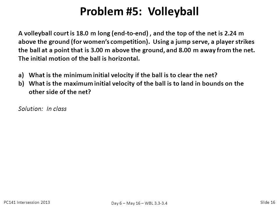 Problem #5: Volleyball