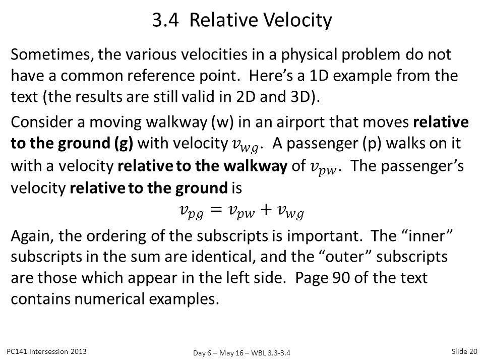 3.4 Relative Velocity