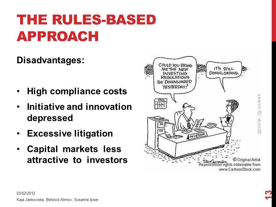 The rules-based approach