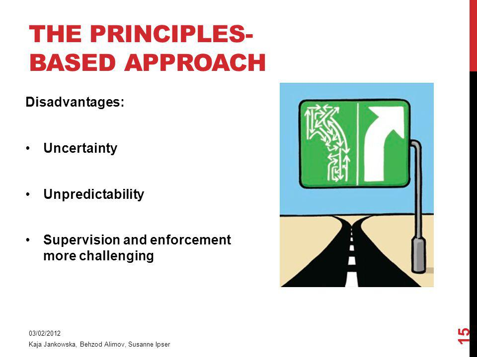The principles-based approach
