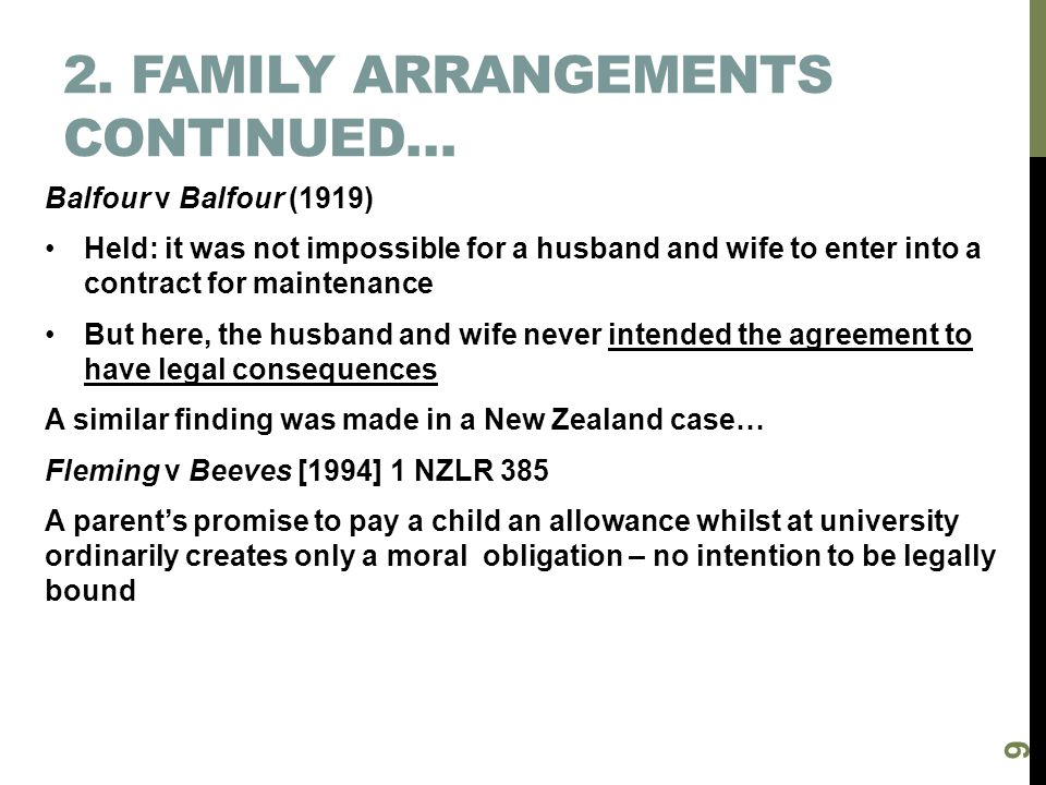 2. Family arrangements continued…