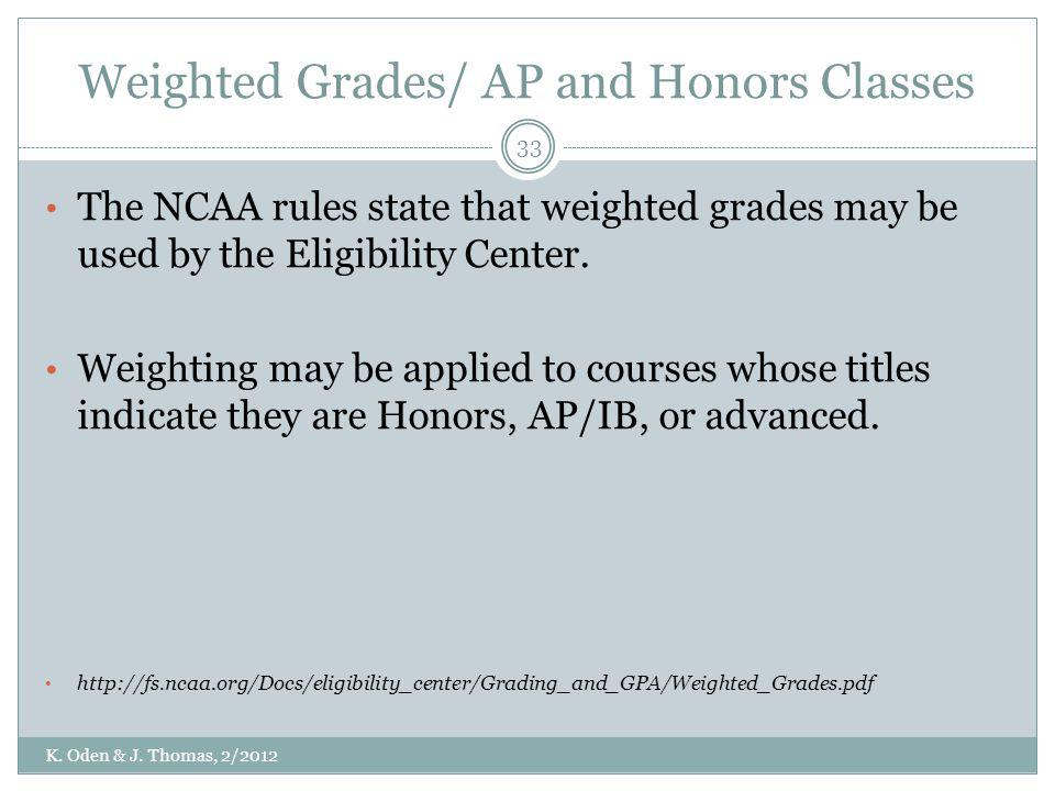 Weighted Grades/ AP and Honors Classes