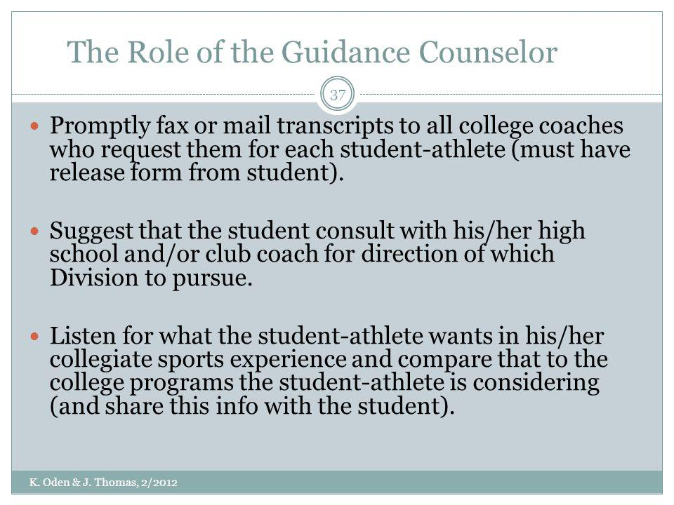 The Role of the Guidance Counselor