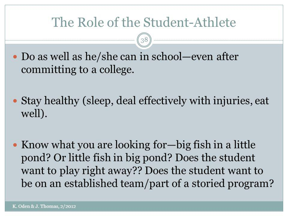 The Role of the Student-Athlete