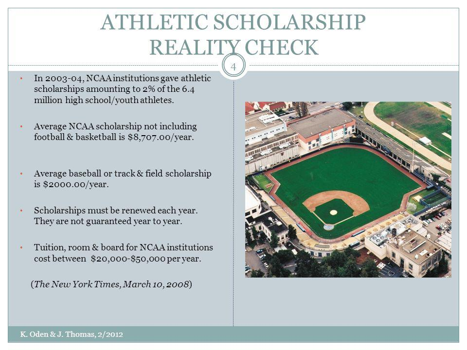 ATHLETIC SCHOLARSHIP REALITY CHECK