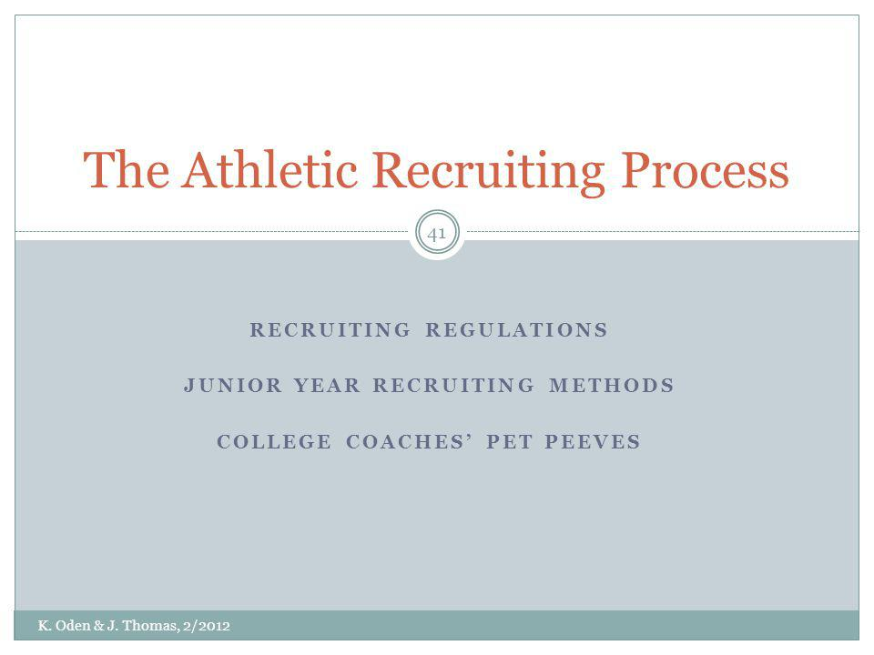 The Athletic Recruiting Process