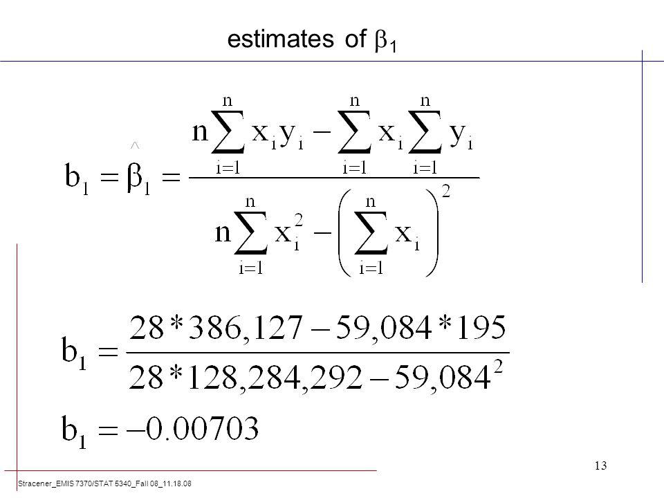 estimates of 1