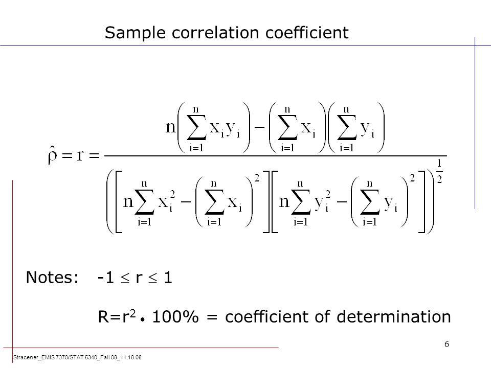 Sample correlation coefficient