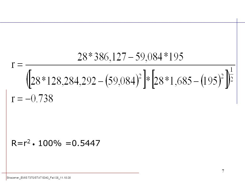R=r2  100% =0.5447