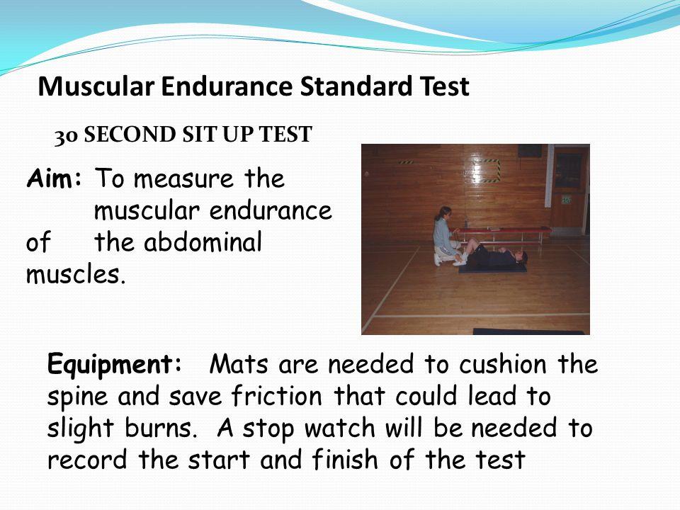 Muscular Endurance Standard Test