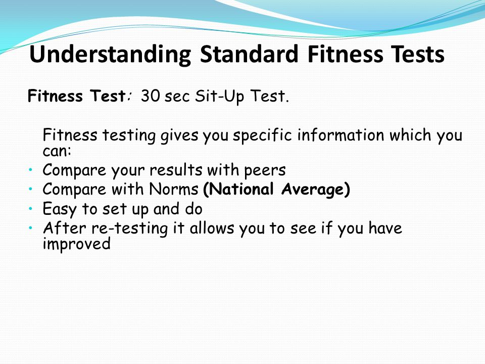 Understanding Standard Fitness Tests