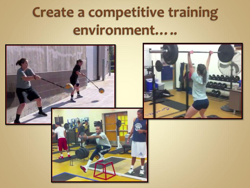 Create a competitive training environment…..
