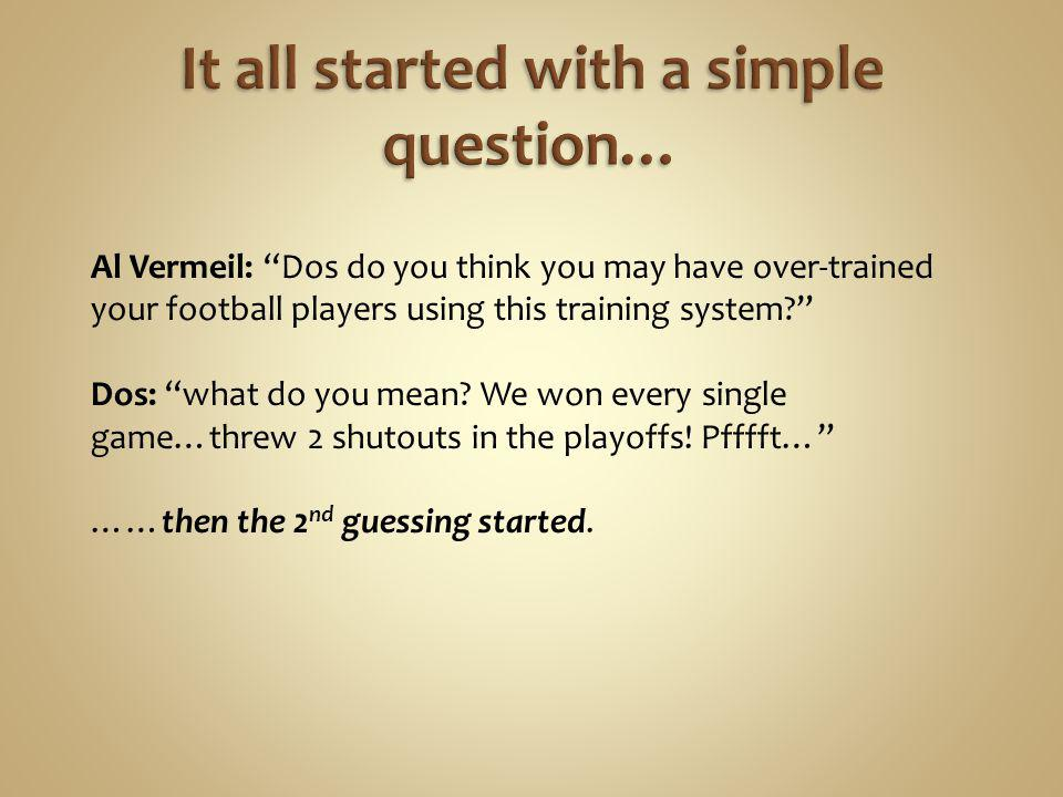It all started with a simple question…