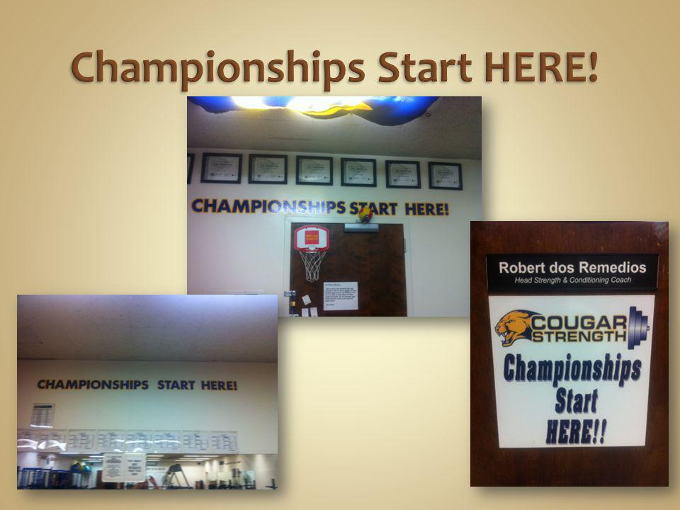 Championships Start HERE!