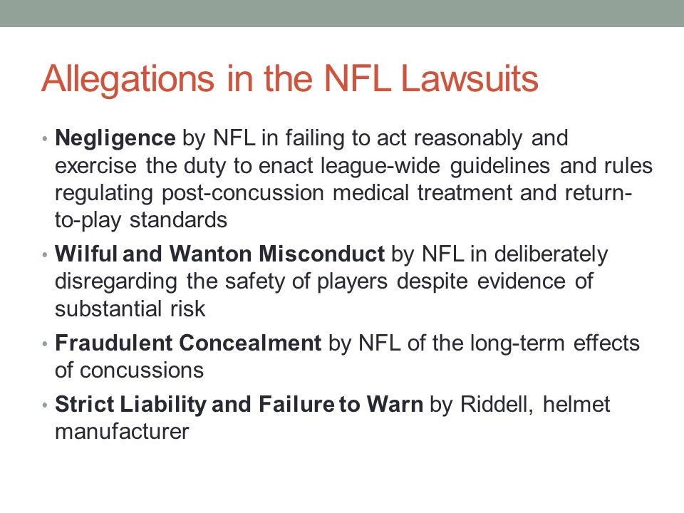 Allegations in the NFL Lawsuits