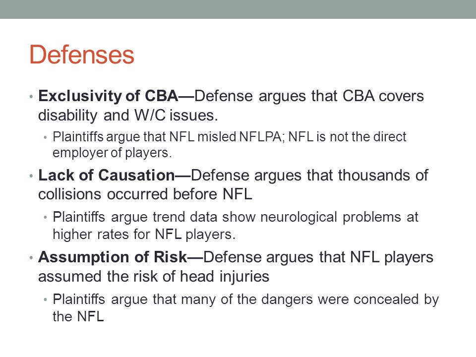 Defenses Exclusivity of CBA—Defense argues that CBA covers disability and W/C issues.