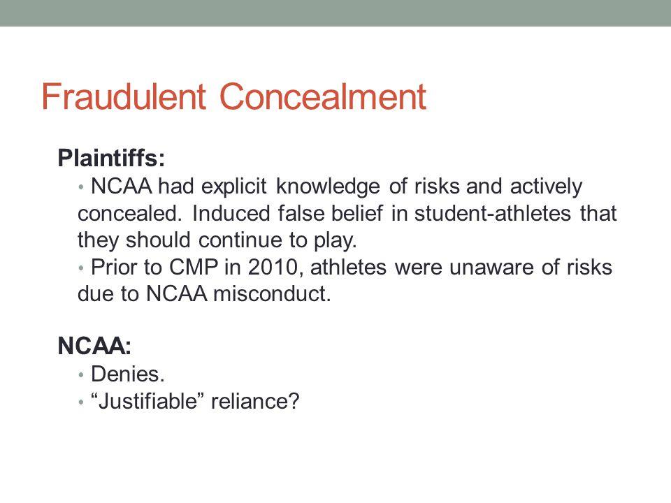 Fraudulent Concealment