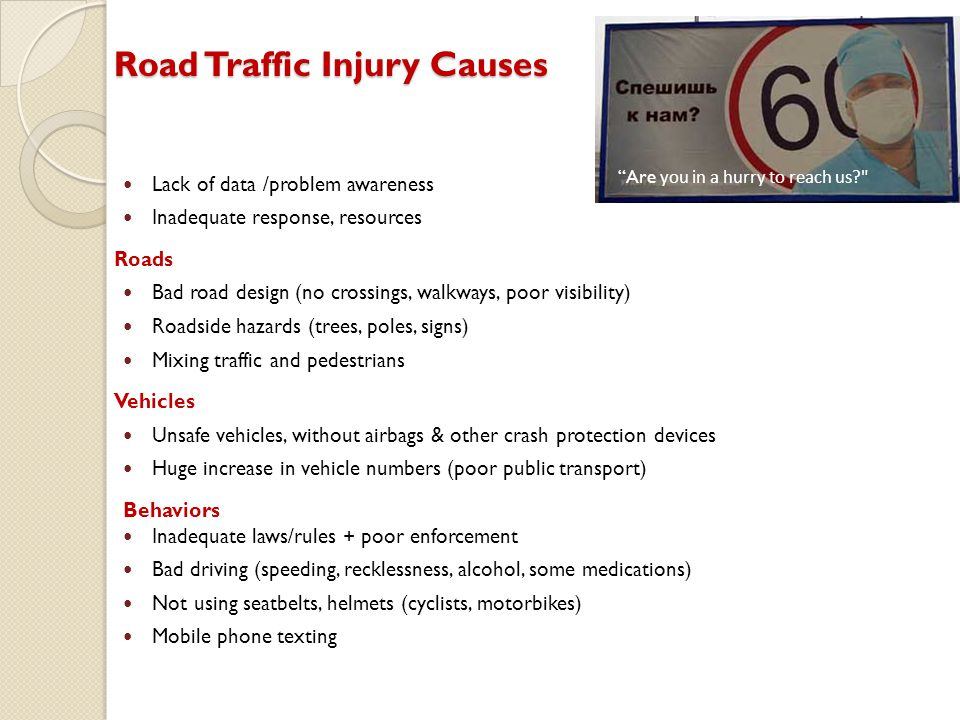 Road Traffic Injury Causes